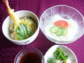 そうめん&ミニ天丼3.JPG